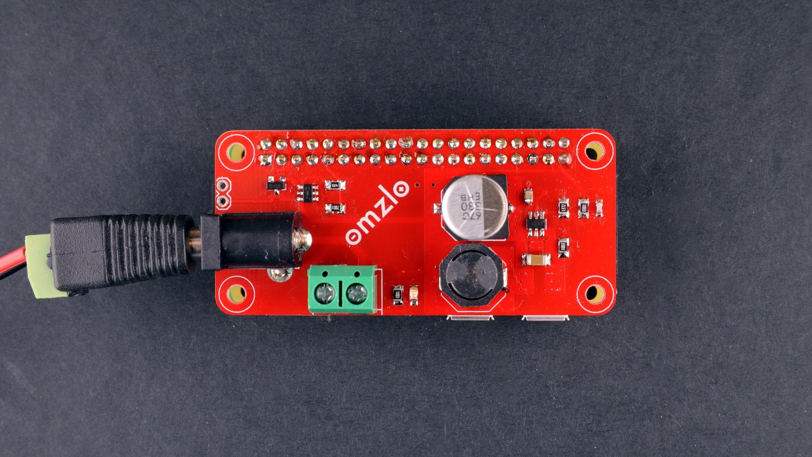 Omzlo Adding A Dc Power Jack To The Raspberry Pi Voltage Regulator 12v 15a For Battery By Mc34063