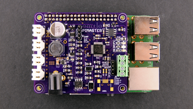 Omzlo: A Raspberry Pi CAN-bus HAT for the Omzlo IoT platform