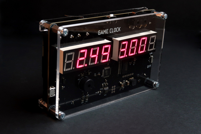 "Play ""blitz chess"" like a real hacker, with our modern-retro Arduino-compatible Game Clock!"