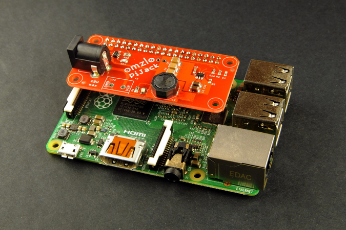 Omzlo: Adding a DC power jack to the Raspberry-Pi (updated)